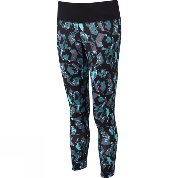 Ronhill Womens Momentum Crop Tights Peacock Hex