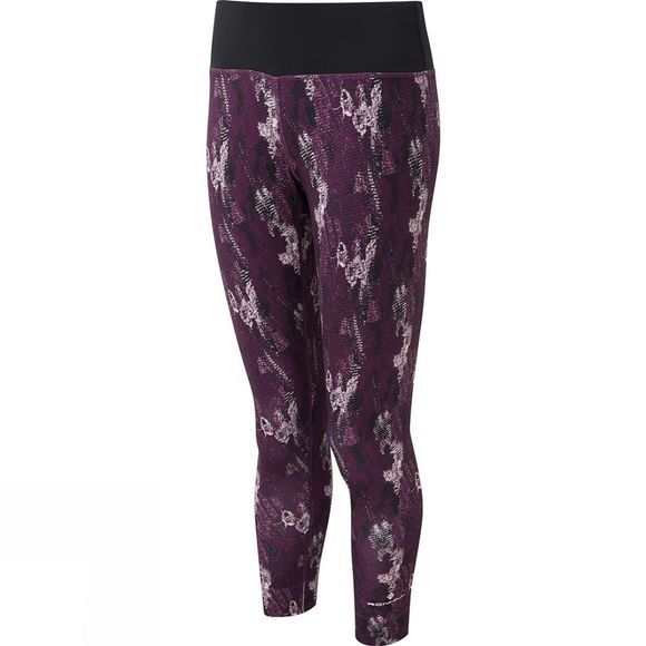 Ronhill Womens Momentum Crop Tights Aubergine Cloud