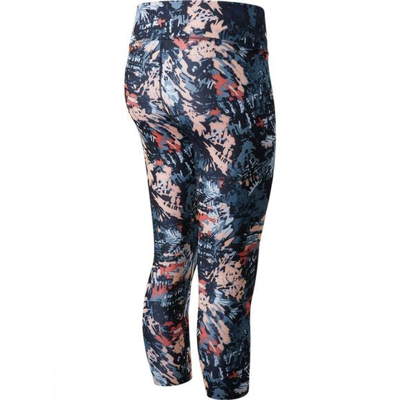 New Balance Womens Printed Accelerate Capri Ging Pink