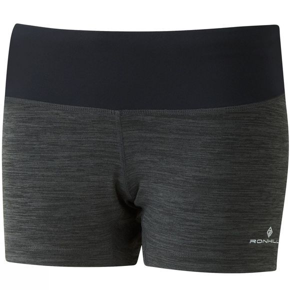 Ronhill Womens Momentum Victory Mini Shorts Charcoal Marl