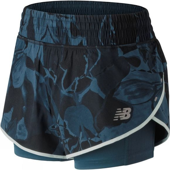 New Balance Women's 4 Inch Printed Impact Shorts North Sea