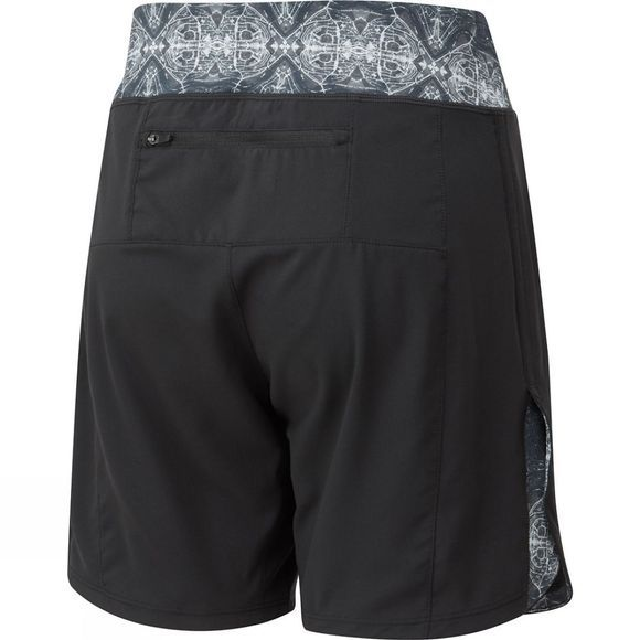 Ronhill Women's Momentum 7in Unlined Shorts Black/Mono Tribal
