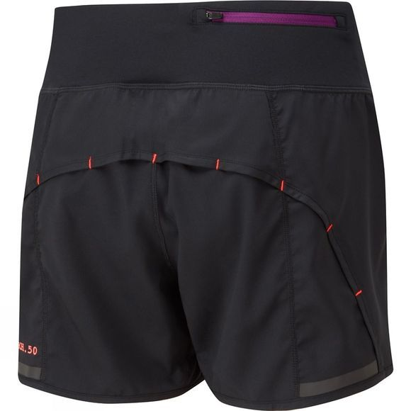 Ronhill Womens Stride Revive Short Black/Hot Coral