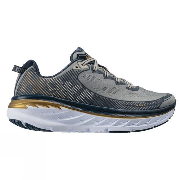 Hoka One One Mens Bondi 5 Wide Shoe Cool Gray / Midnight Navy