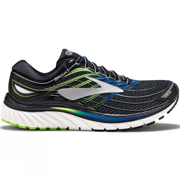 Brooks Mens Glycerin 15 Black/Electric Brooks Blue/Green Gecko