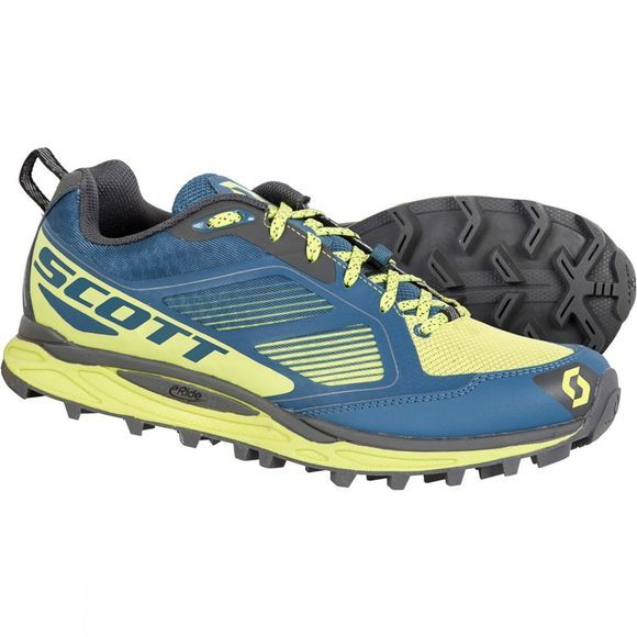 Scott Mens Kinabalu Supertrac Shoe Blue/Yellow