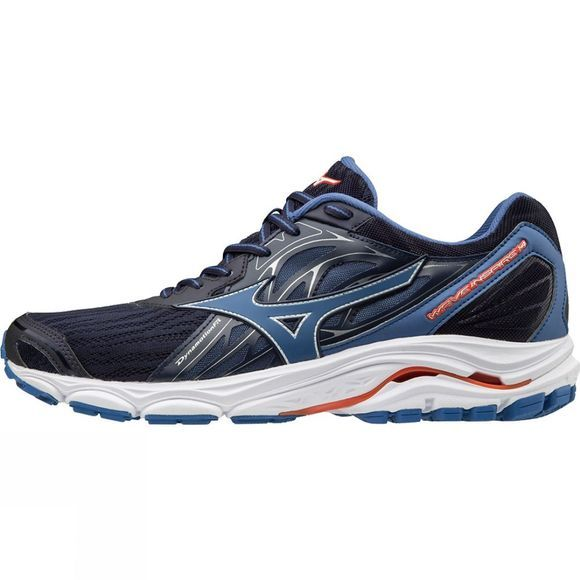 Mizuno Mens Wave Inspire 14 Evening Blue/ Delft/ Cherry Tomato