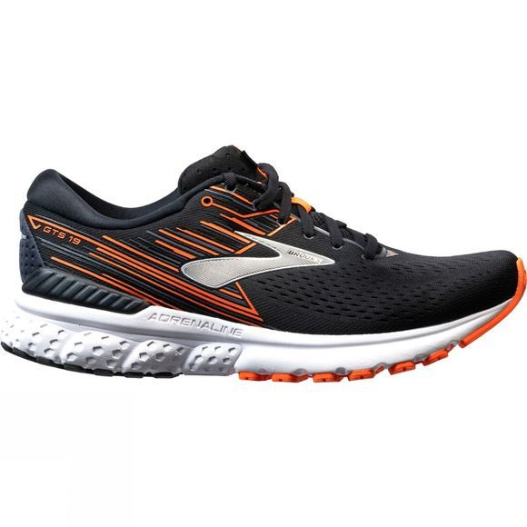 Brooks Mens Adrenaline GTS 19 Black/Orange/Silver