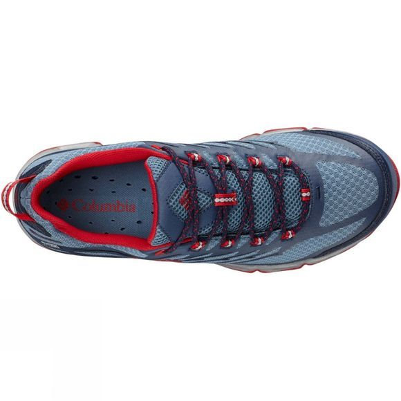 Columbia Mens Ventrailia II OutDry Shoe Steel / Mountain Red