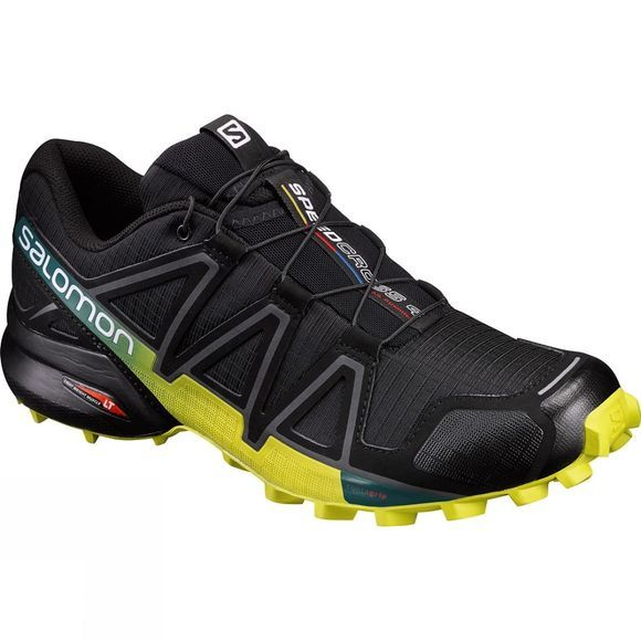 Salomon Men Speedcross 4 Shoe Black/Sulphur Spring