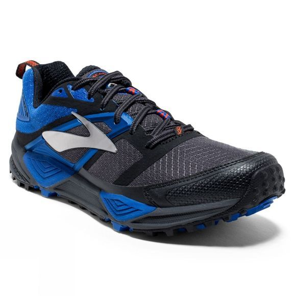 Brooks Mens Cascadia 12 Anthracite/Electric Blue/Black