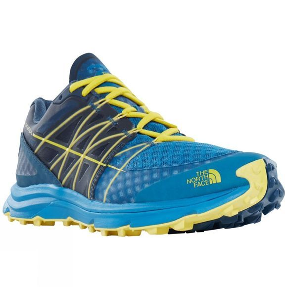 The North Face Mens Ultra Vertical Shoe Seaport Blue/Acid Yellow