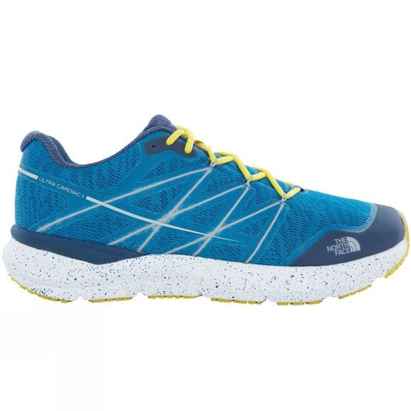 The North Face Mens Ultra Cardiac II Shoe Seaport Blue/Acid Yellow