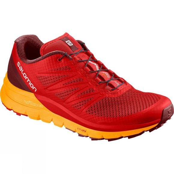 Salomon Mens Sense Pro Max Shoe Fiery Red/Bright Marigold/Syrah