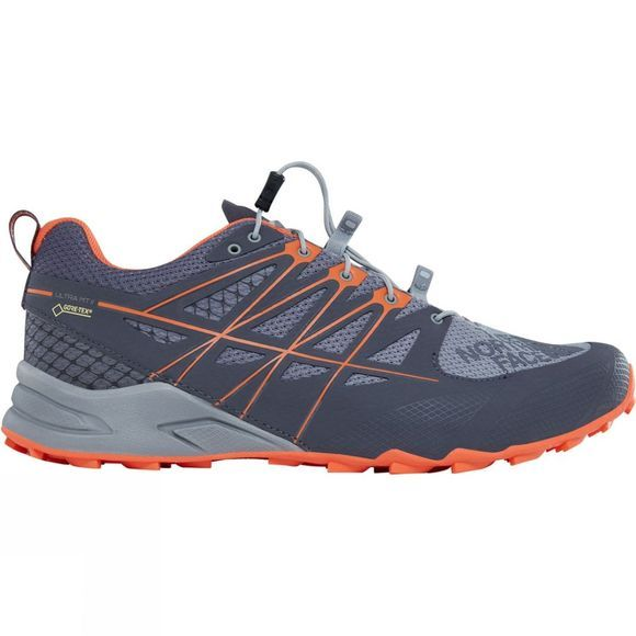 The North Face Mens Ultra Mt II GORE-TEX® Shoe Blackened Pearl/Scarlet Ibis