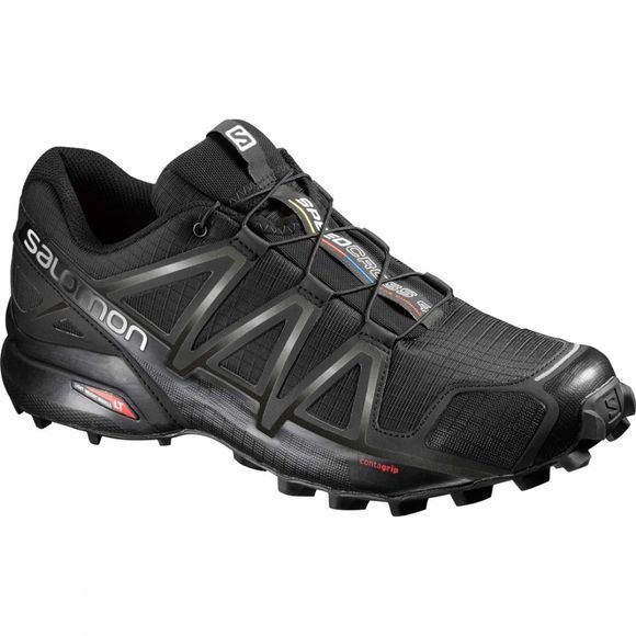 Salomon Mens Speedcross 4 Wide Shoe Black/Black/Black Metallic