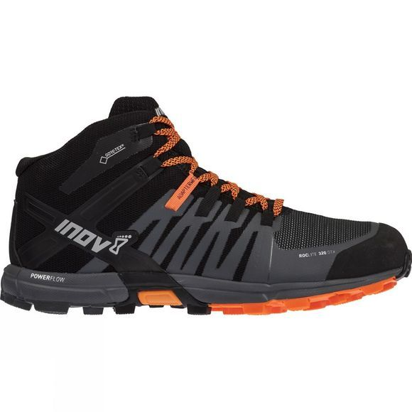 Inov-8 Mens Roclite 320 Gtx Trail Running Shoe Black/ Grey/ Orange
