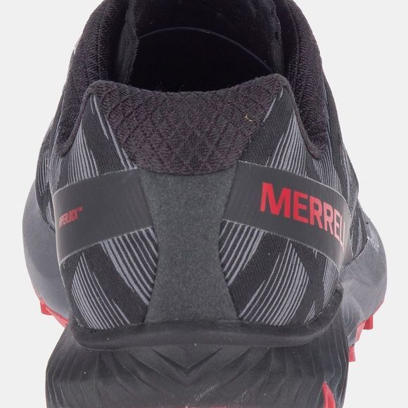 Merrell Mens Agility Synthesis Flex Shoe Black/Cherry