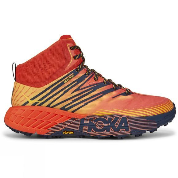 Hoka One One Speedgoat Mid 2 Gtx Mandarin Red / Gold Fusion