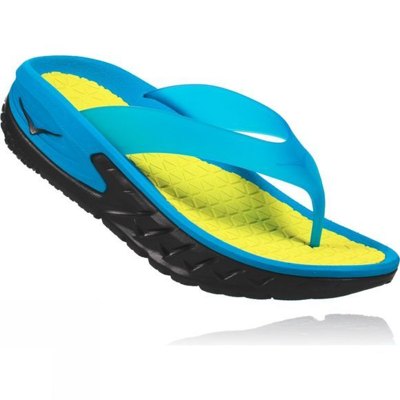 Hoka One One Mens Ora Recovery Flip Black/Process Blue