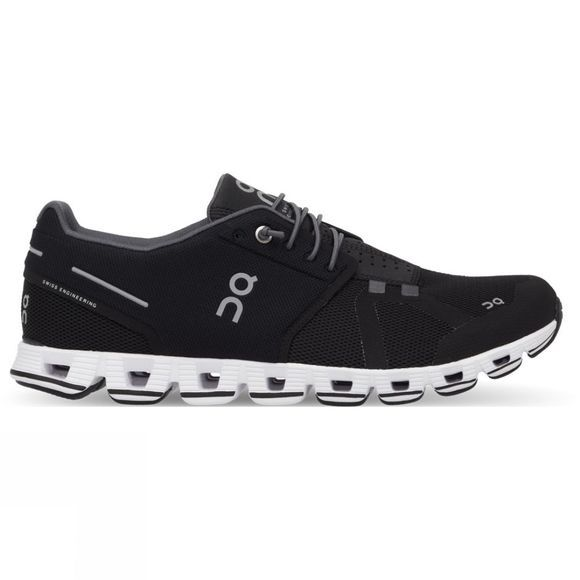 On Mens Cloud Running Shoe Black/White