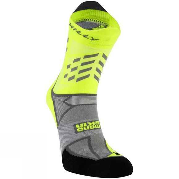 Hilly Lumen Sock Fluo Yellow / Grey / Black