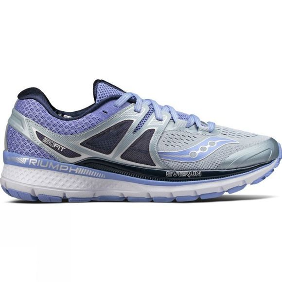 Saucony Womens Triumph ISO 3 Shoe Grey/Purple