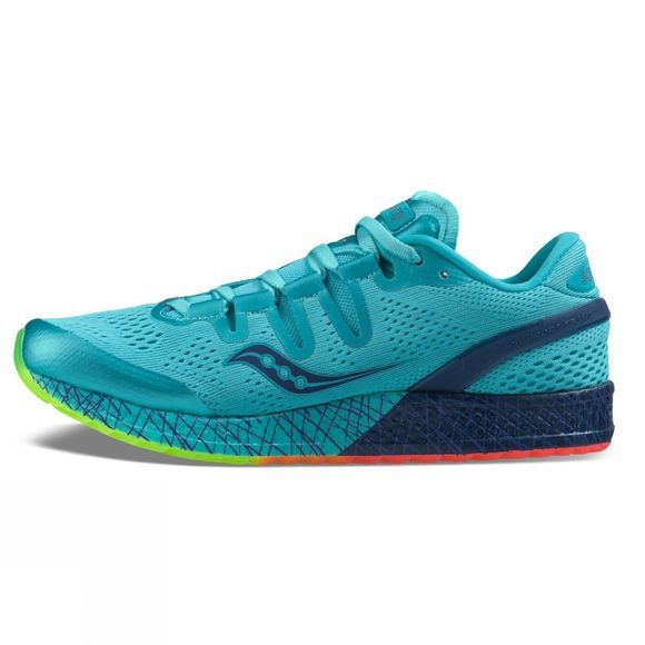 Saucony Womens Freedom ISO Shoe Blue/Citron