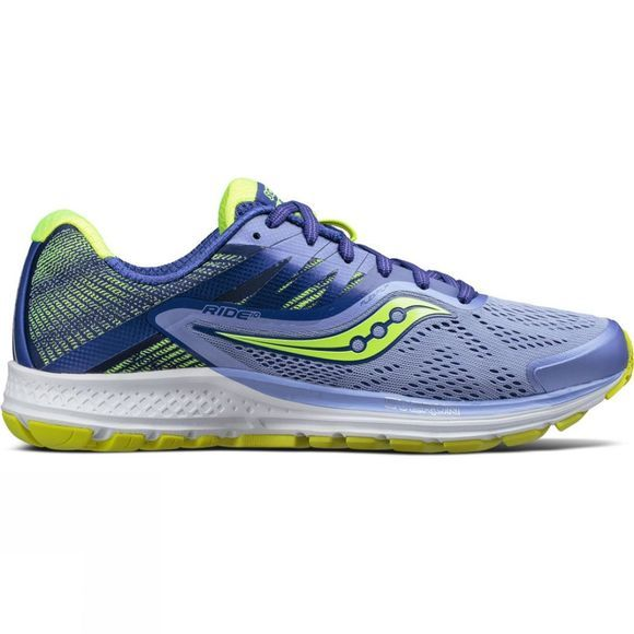 Saucony Womens Ride 10 Purple/Blue/Citron