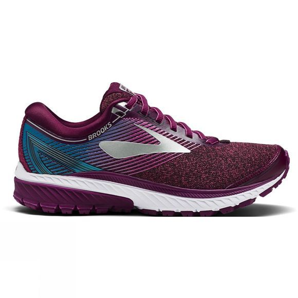 Brooks Womens Ghost 10 Shoe Purple/Pink/Teal