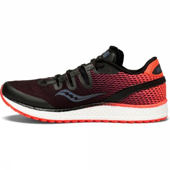 Saucony Womens Freedom ISO Shoe Black/Vizi Red