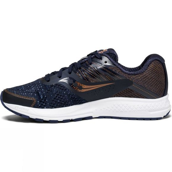 Saucony Womens Ride 10 Shoe Navy/Denim/Copper