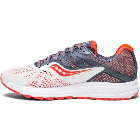 Saucony Womens Ride 10 Shoe White Fog/Vizired