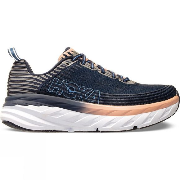 Hoka One One Womens Bondi 6  Mood Indigo / Dusty Pink