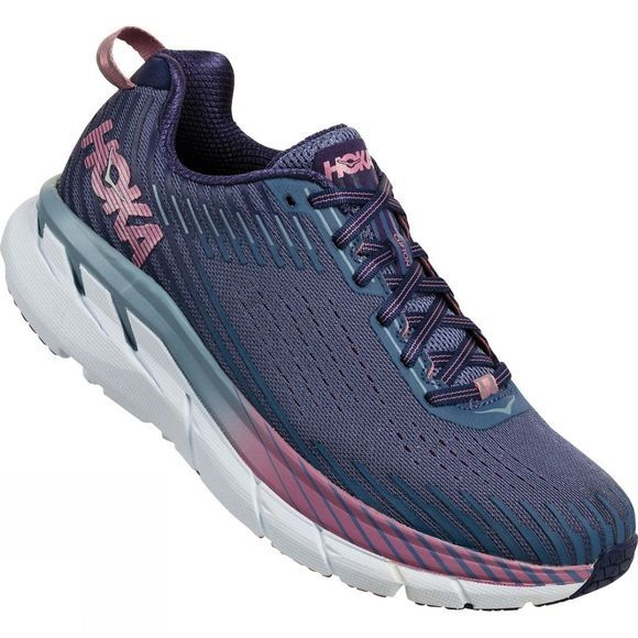 Hoka One One Womens Clifton 5 (Wide) Marlin / Blue Ribbon
