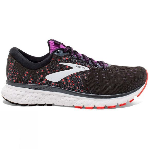Brooks Women's Glycerin 17 Narrow Black/Fiery Coral/Purple