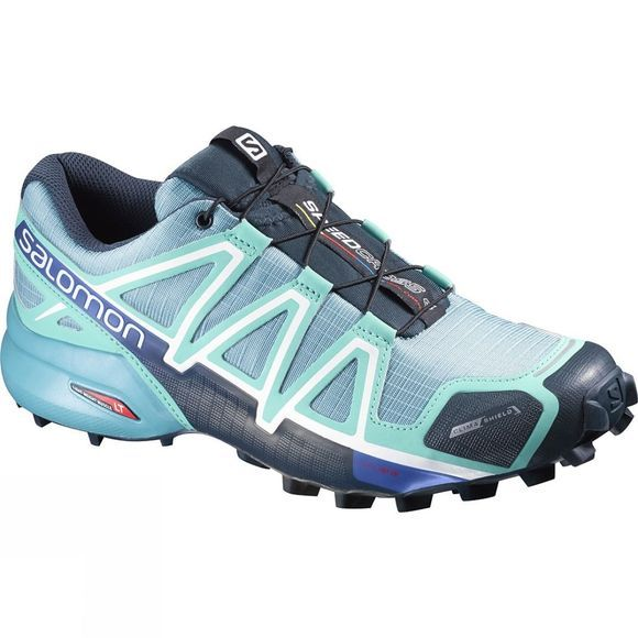 Salomon Womens Speedcross 4 CS Shoe Blue Gum / Bubble Blue
