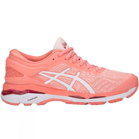 Asics Womens Gel Kayano 24 Shoe Seashell Pink/White/Begonia Pink