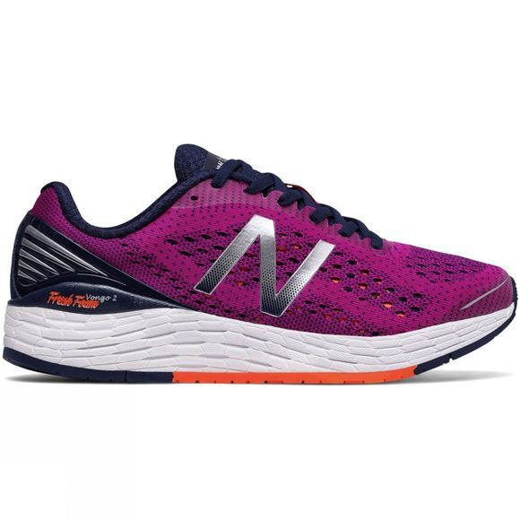 New Balance Womens Fresh Foam Vongo v2 Shoe Purple/Orange