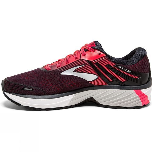 Brooks Womens Adrenaline GTS 18 Shoe Black/Black/Pink