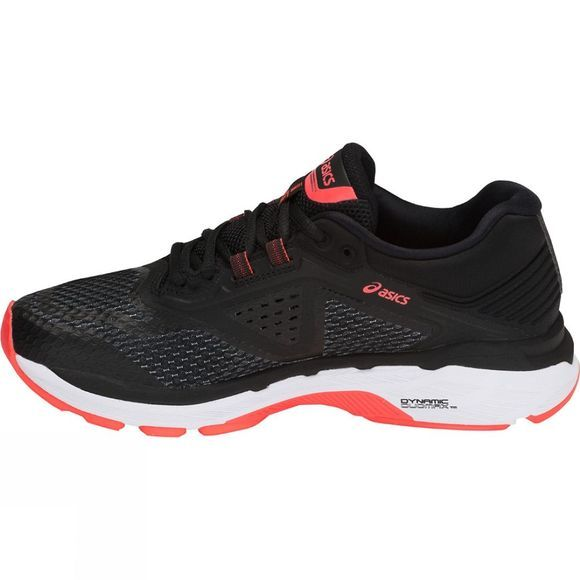 Asics Womens GT-2000 6 Black/Flash Coral