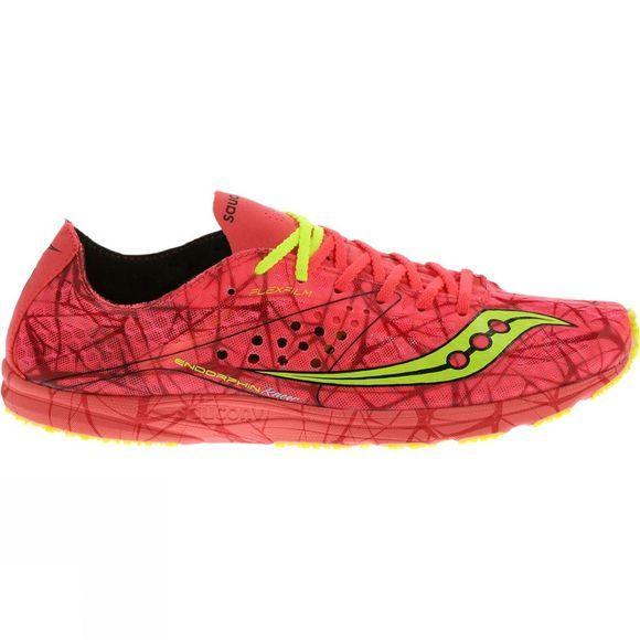 Saucony Womens Endorphin Racer Shoe Orange/Bright Green