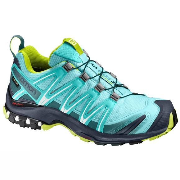 Salomon Womens XA Pro 3D GTX Shoe Ablue/Ombre Blue/Lime punch