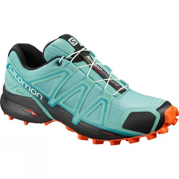 Salomon Womens Speedcross 4 Shoe Meadowbrook/Black/Exotic Orange