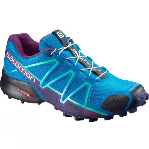 Salomon Womens Speedcross 4 Shoe Hawaiian Surf/Astral Aura/Grape Juice