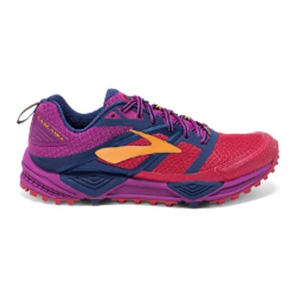 Brooks Womens Cascadia 12 Shoe Poppy Red/Peacoat/Baton Rouge