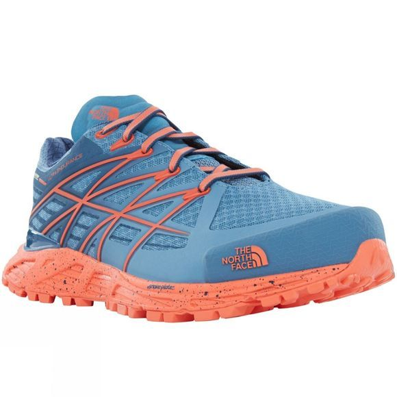 The North Face Womens Ultra Endurance GTX Shoe Provincial Blue/Nasturtium Orange