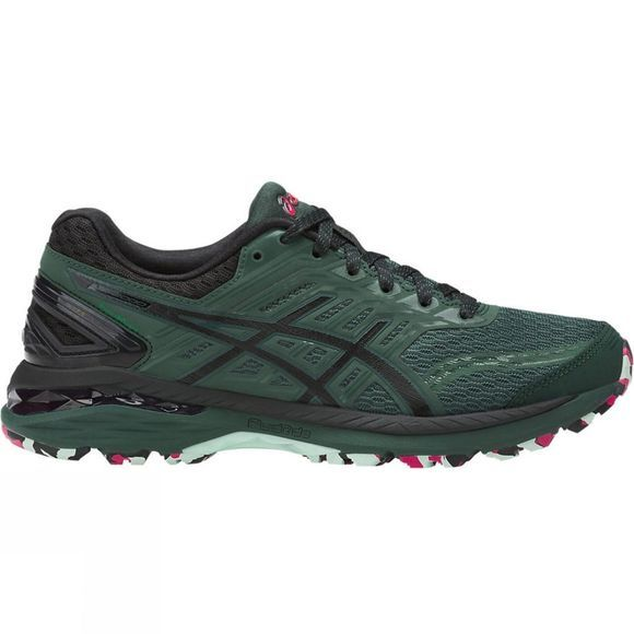 Asics Womens GT-2000 5 Trail PlasmaGuard Shoe Hampton Green/Black/Cosmo Pink