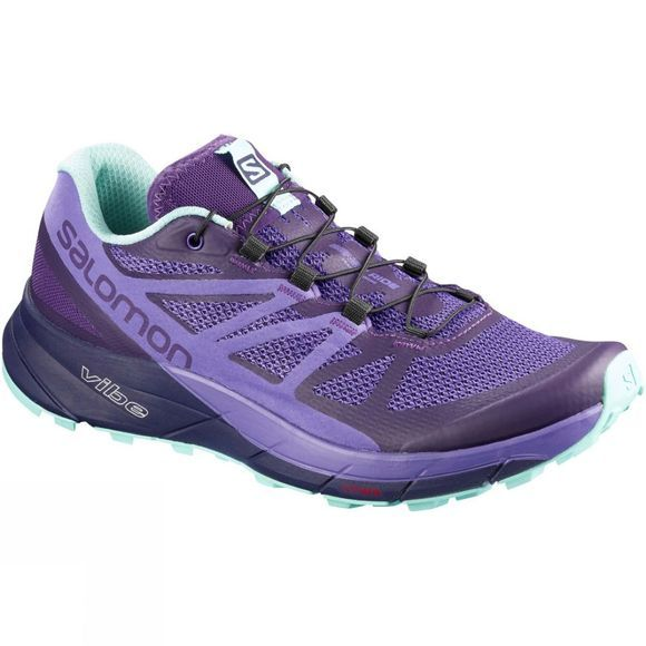 Salomon Womens Sense Ride Shoe Parachute Purple/Purple Opulence/Beach Glass