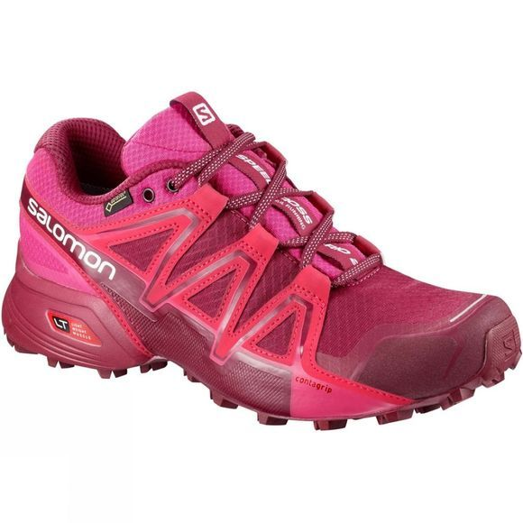 Salomon Womens Speedcross Vario 2 GTX Shoe Cerise/Beet Red/Pink Yarrow